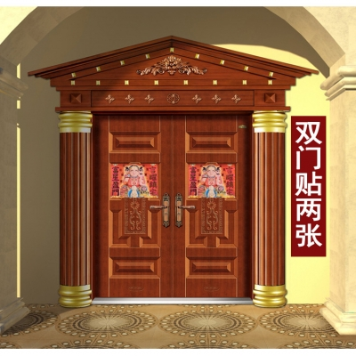 香港正品2019年李居明大黑天门神千座财神门帖门幅门贴