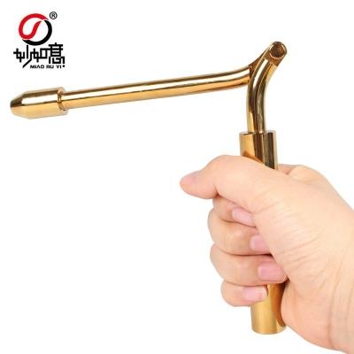铜制折叠式寻龙尺风水探测棒占卜杖辅助罗盘寻龙点穴说明书