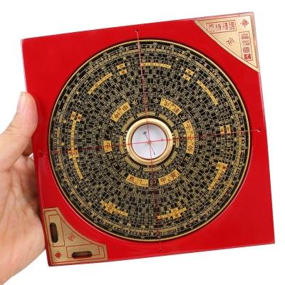 台湾东定罗盘摆件5寸风水盘罗经仪指南针电木三元三合综合盘